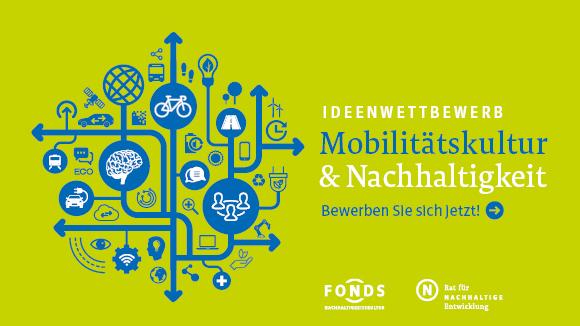"""Keyvisual zum Ideenwettbewerb """"Mobilitätskultur und Nachhaltigkeit"""""""