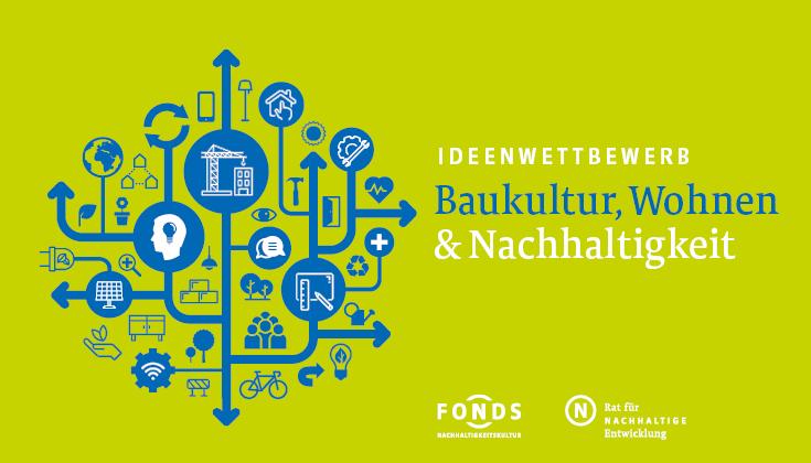 Keyvisual zum Ideenwettbewerb Baukultur, Wohnen und Nachhaltigkeit
