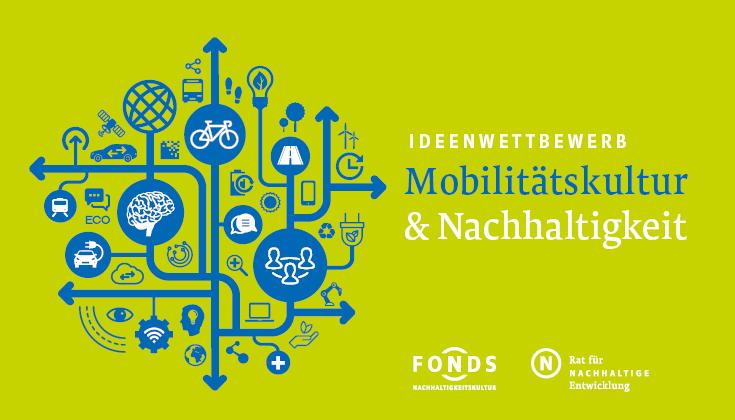 Keyvisual zum Ideenwettbewerb Mobilitätskultur und Nachhaltigkeit