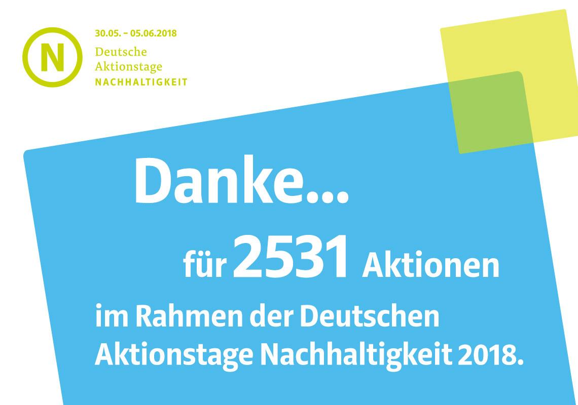 DAN 2018: Danke für 2531 Aktionen