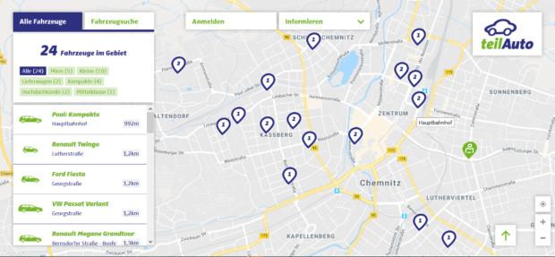 Bild 4: Verteilung der teilAutos, keine Station im Viertel