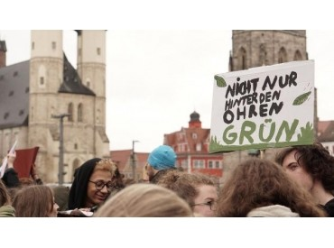 FridaysForFuture Protest in Halle