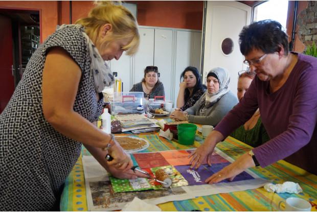 Bild 5: Multikultureller Kreativkurs am GLEIS 3