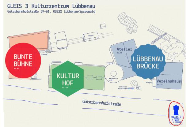 Bild 10: Übersichtsplan GLEIS 3 Kulturzentrum Lübbenau