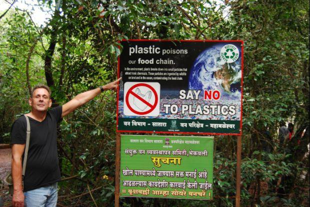Bild 2 von 8: Tafel im Naturschutzgebiet in Mahabaleshwar