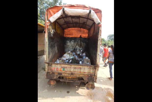 Bild 6 von 8: Eingesammelter Plastikmüll